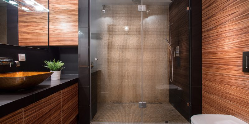 Stylish Modern Bathroom Remodel And Design Idea With Big Tile Shower