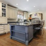 Modern Kitchen Remodel and Design with Center Island and Wooden Cabinets