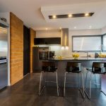 Modern Kitchen Remodel and Design with Stainless Steel Appliances and Vinyl Flooring