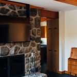 Modern Stone Indoor Fireplace Design and Installation
