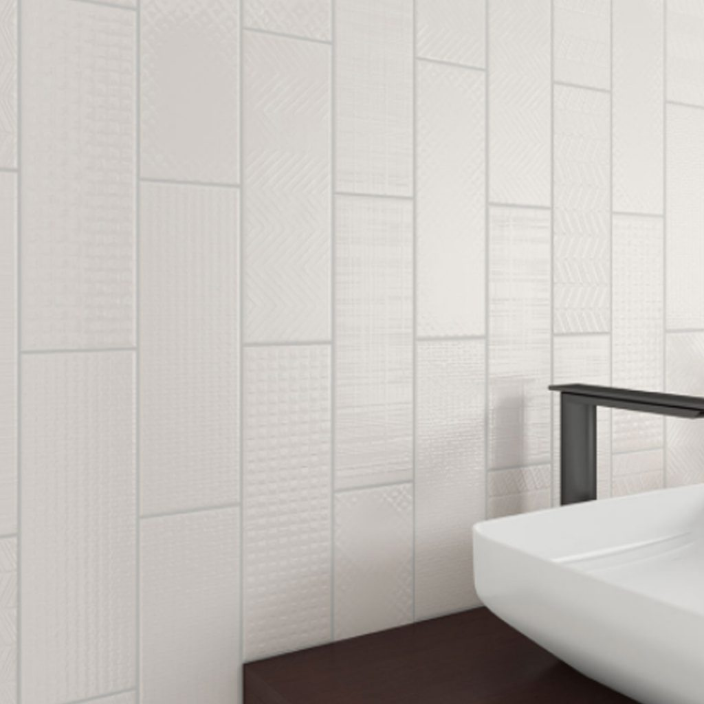 Vertical Staggered Stack Multi Texture Tile
